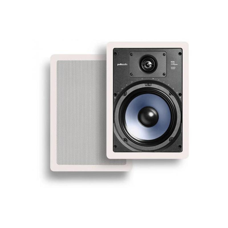 Polk Audio RC85i hidden in wall speakers white