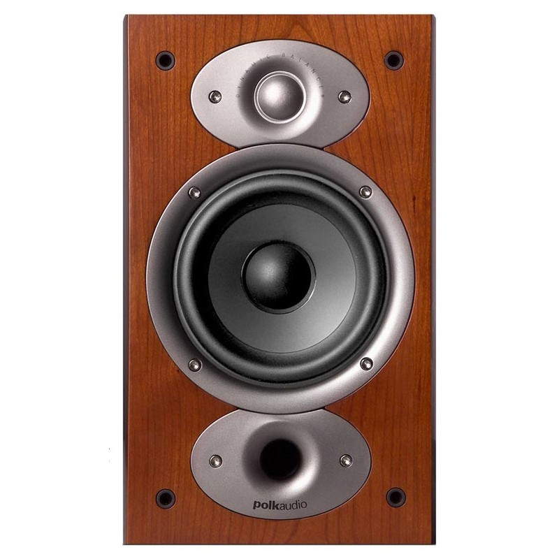 Polk Audio Rti-A1 bookshelf home theater speakers front view