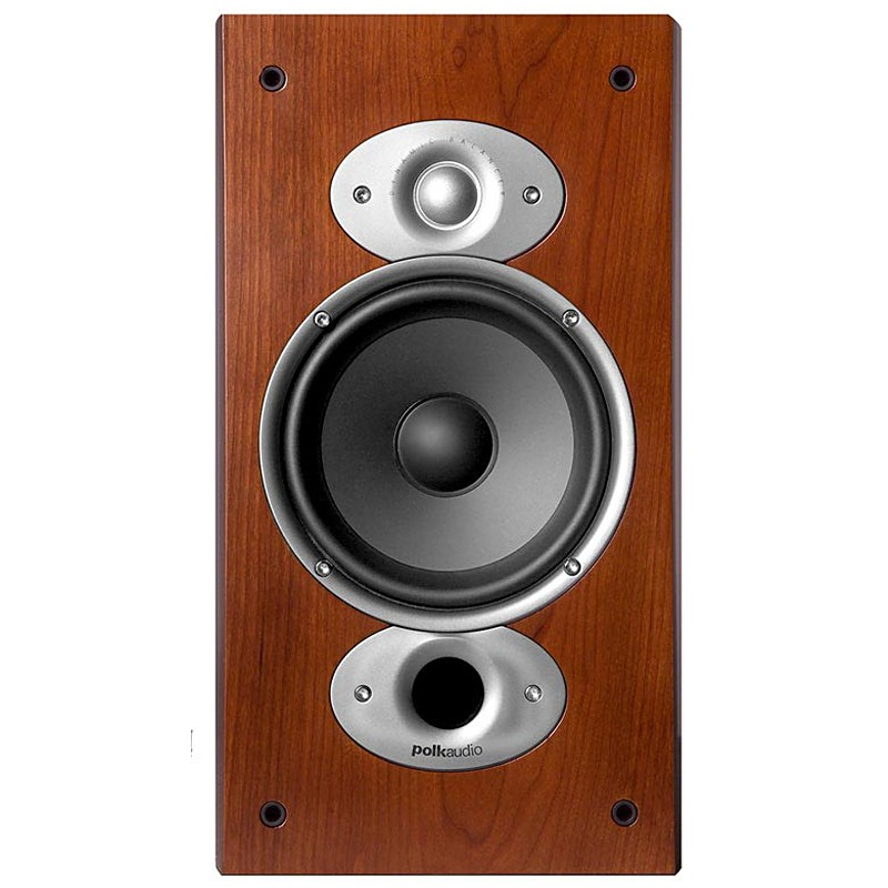 Polk Audio RTi-A3 bookshelf home theater speakers front view