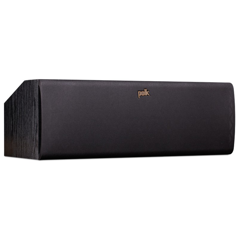 Polk Audio TSx150 center home theater speaker black front view