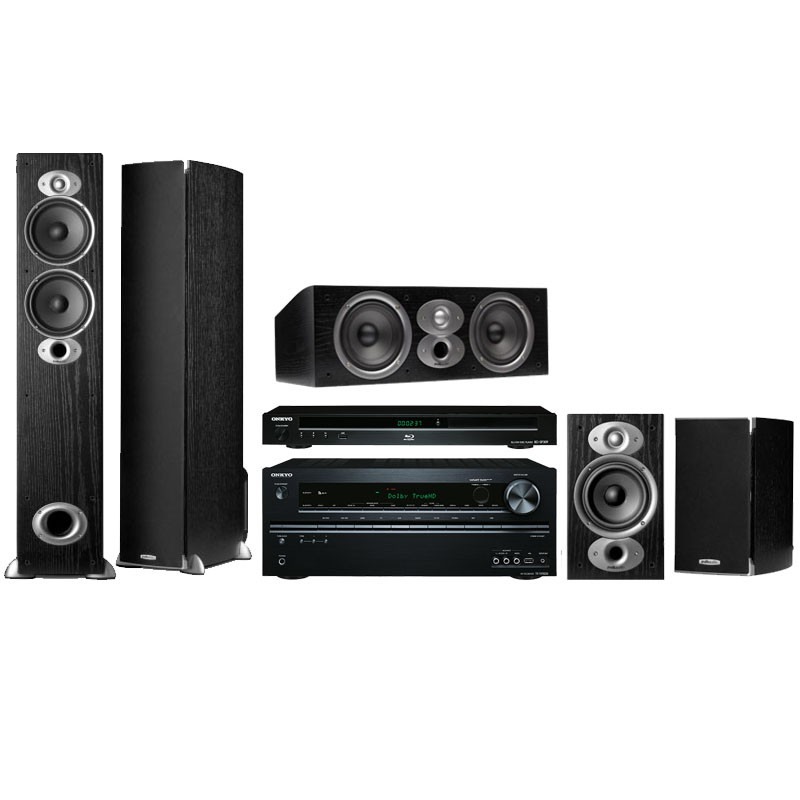 VA Package deal 5 home theater bundle onkyo polk audio surround sound
